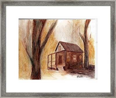 Winter Hideaway Framed Print by Andrea Friedell