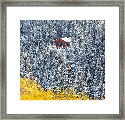 Winter Hideaway Framed Print by Darren  White