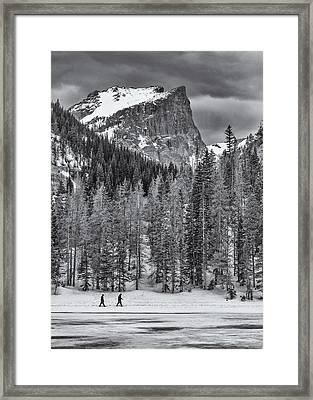 Winter Hike Framed Print by Darren  White
