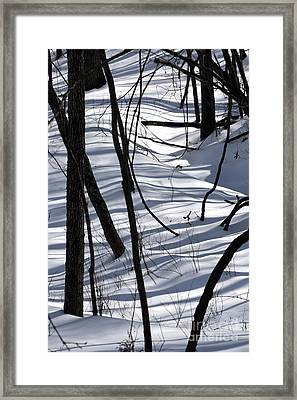 Winter Hillside Framed Print