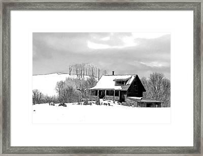 Winter Home Framed Print by John Haldane