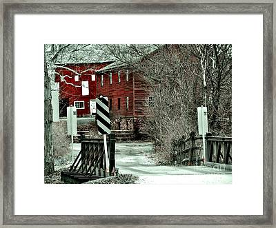 Winter Home Framed Print by Sharon Costa