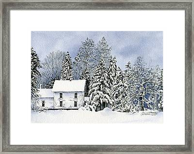 Winter House Framed Print by Carolyn A Pappas