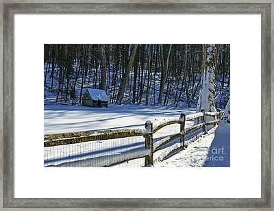 Winter Hut Framed Print