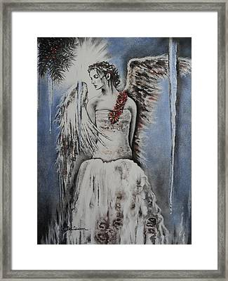 Winter Ice Angel Framed Print by Carla Carson