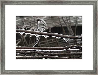 Winter Ice Framed Print by Daniel J Kasztelan