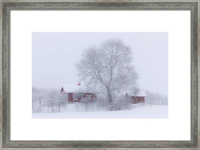 Winter Idyll Framed Print by Allan Wallberg
