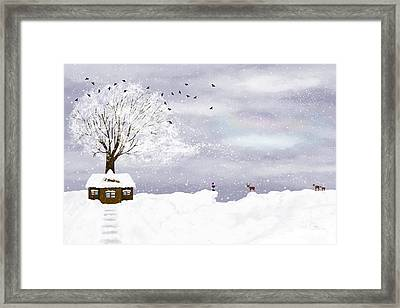 Winter Illustration Framed Print