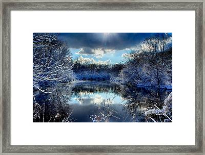 Winter In April 2014 Framed Print