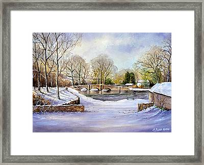 Winter In Ashford Framed Print by Andrew Read