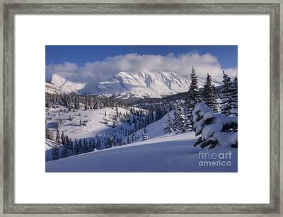 Winter In Banff Framed Print