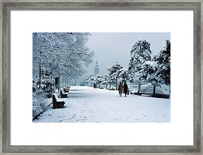 Winter In Belgrade Framed Print by Dragan Kudjerski
