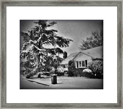 Winter In Black And White Framed Print by Mikki Cucuzzo