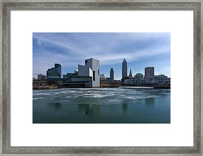Winter In Cleveland Framed Print by Dale Kincaid