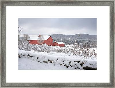 Winter In Connecticut Framed Print