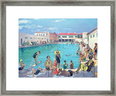 Winter In Florida Framed Print by Sir John Lavery