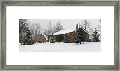 Winter In Galena Framed Print by Gary Lobdell