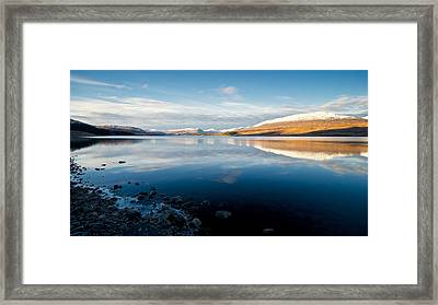 Framed Print featuring the photograph Winter In Glencoe by Stephen Taylor