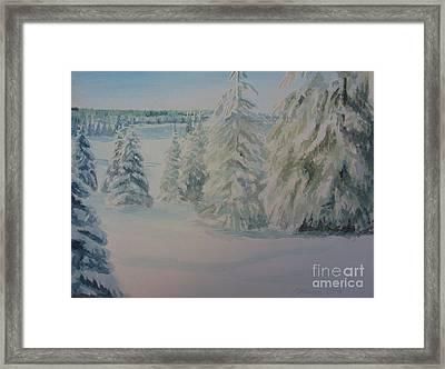 Winter In Gyllbergen Framed Print by Martin Howard
