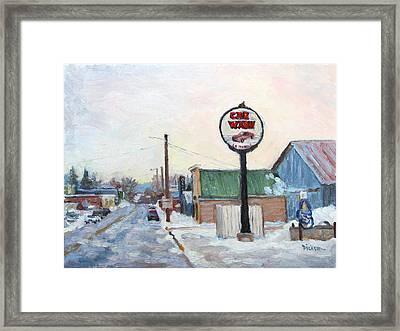 Winter In La Farge Framed Print