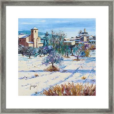 Winter In Lourmarin Framed Print by Jean-Marc Janiaczyk
