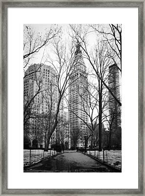 Winter In Madison Square Park - New York City Framed Print