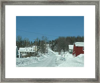 Winter In Maine Framed Print by Brenda Ketch