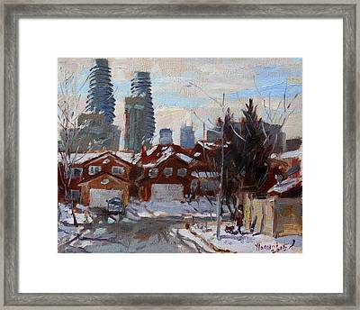 Winter In Mississauga  Framed Print by Ylli Haruni