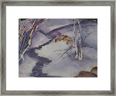 Winter In Montana Framed Print