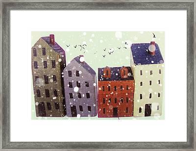 Winter In Nantucket Framed Print by Amy Tyler