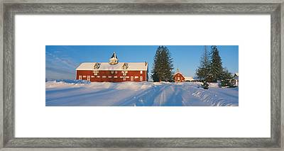 Winter In New England, Mountain View Framed Print by Panoramic Images