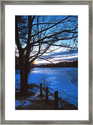 Winter In New Hampshire Framed Print by Joann Vitali