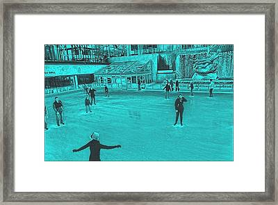 Winter In New York City Framed Print by Dan Sproul