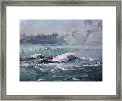Winter In Niagara Waterfalls Framed Print