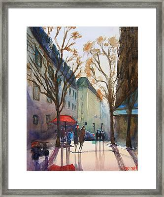 Winter In Paris Framed Print by Lior Ohayon