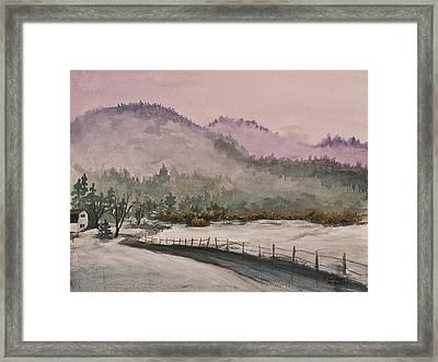 Winter In Quincy Framed Print