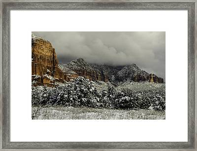 Winter In Sedona Framed Print by Brian Oakley  Photography