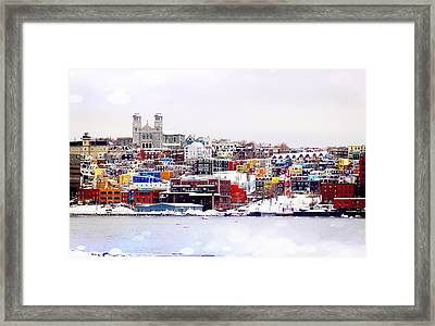 Winter In St. John's Framed Print