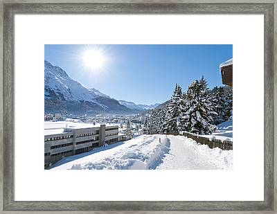 Winter In St. Moritz  Framed Print by Design Windmill