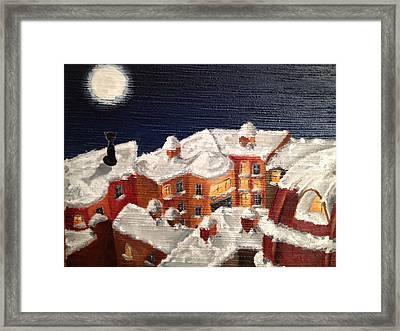 Winter In St Petersburg Framed Print by Margarita Gokun
