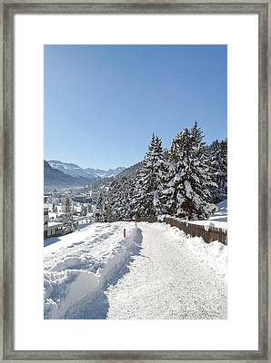 Winter In Switzerland Framed Print by Design Windmill
