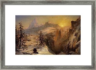 Winter In Switzerland Framed Print