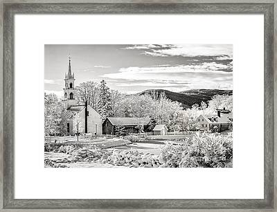 Winter In Tamworth N H Framed Print by Scott Thorp