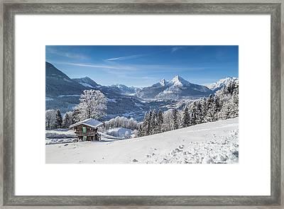 Winter In The Alps Framed Print