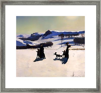 Winter In The Berkshires Framed Print