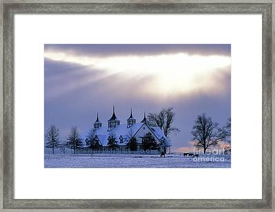 Winter In The Bluegrass - Fs000286 Framed Print