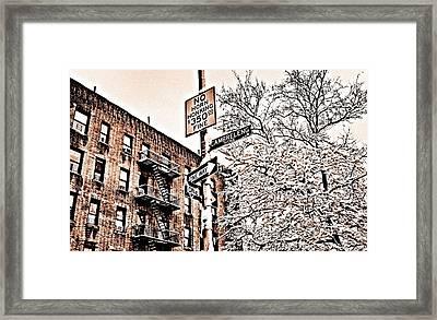 Winter In The Bronx Framed Print