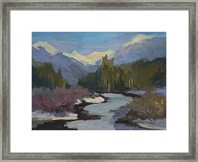 Winter In The Cascade Mountains Framed Print