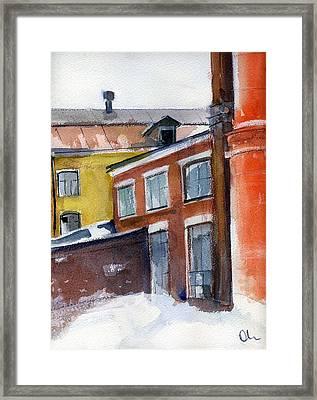 Winter In The City Framed Print by Lelia Sorokina