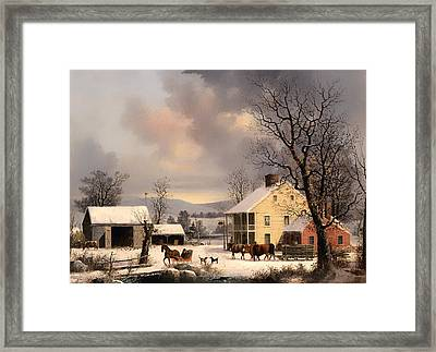 Winter In The Country Framed Print by Mountain Dreams